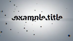 Black Particles Title Intro