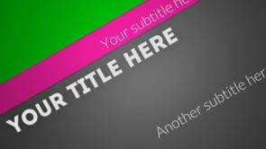 Diagonal Title Intro