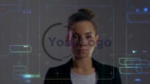 Girl Finger Tap Hologram