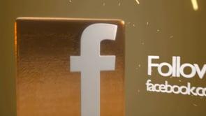 Gold Social Icons Facebook