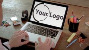 Laptop Screen Mockup Man