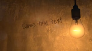 Light Bulb Title Intro