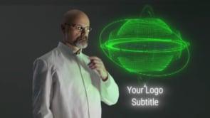 Male Scientist Examins Holo Orb