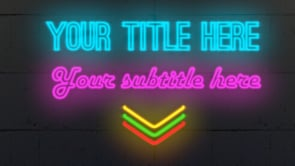 Neon Titles Outro