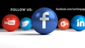 Social Icons Balls Black Facebook