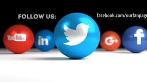 Social Icons Balls Black Twitter