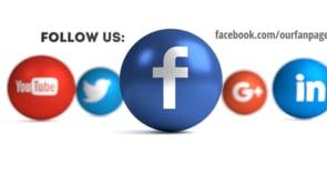 Social Icons Balls White Facebook