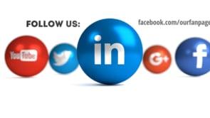 Social Icons Balls White Linkedin