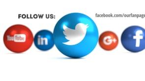 Social Icons Balls White Twitter