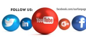Social Icons Balls White YouTube