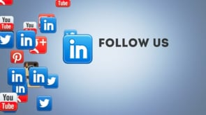 Social Icons Floating Linkedin