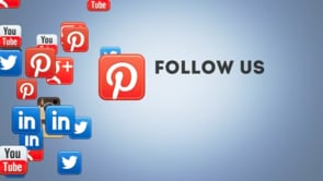 Social Icons Floating Pinterest