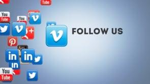 Social Icons Floating Vimeo